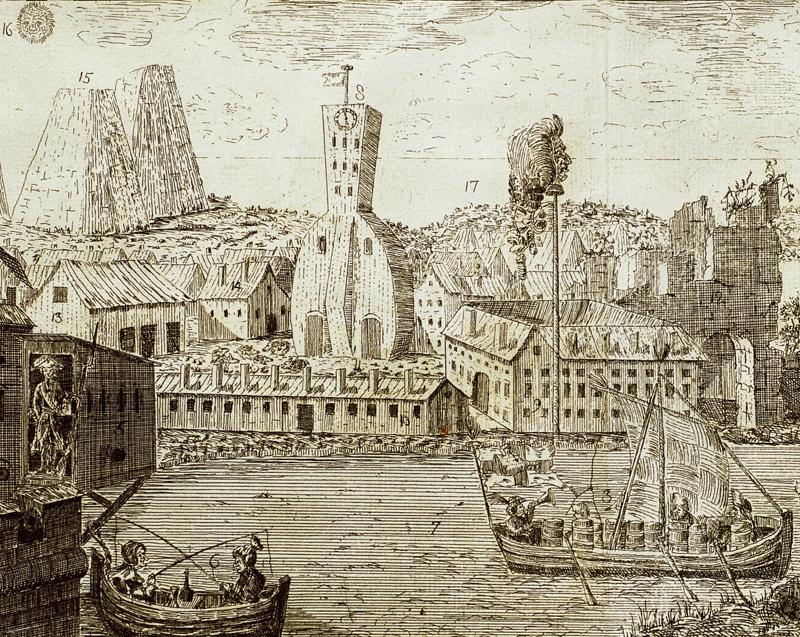 Illustration ur Bacchi hand-bibliotheque, eller Nya tidsfördrif på gäldstufvan. Stockholm. 1-4. 1784-86.