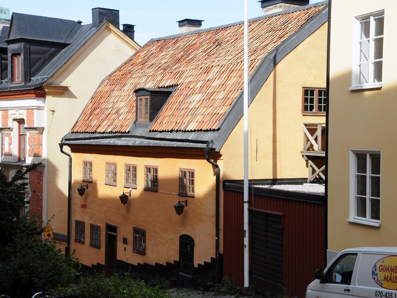 Bellmanhuset på Urvädersgränd 3 i Stockholm. Fotografi: Mats Hayen 2014.