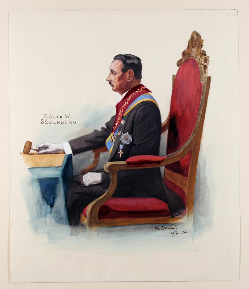 Eric Norströms porträtt från 1934 - Gösta Söderberg