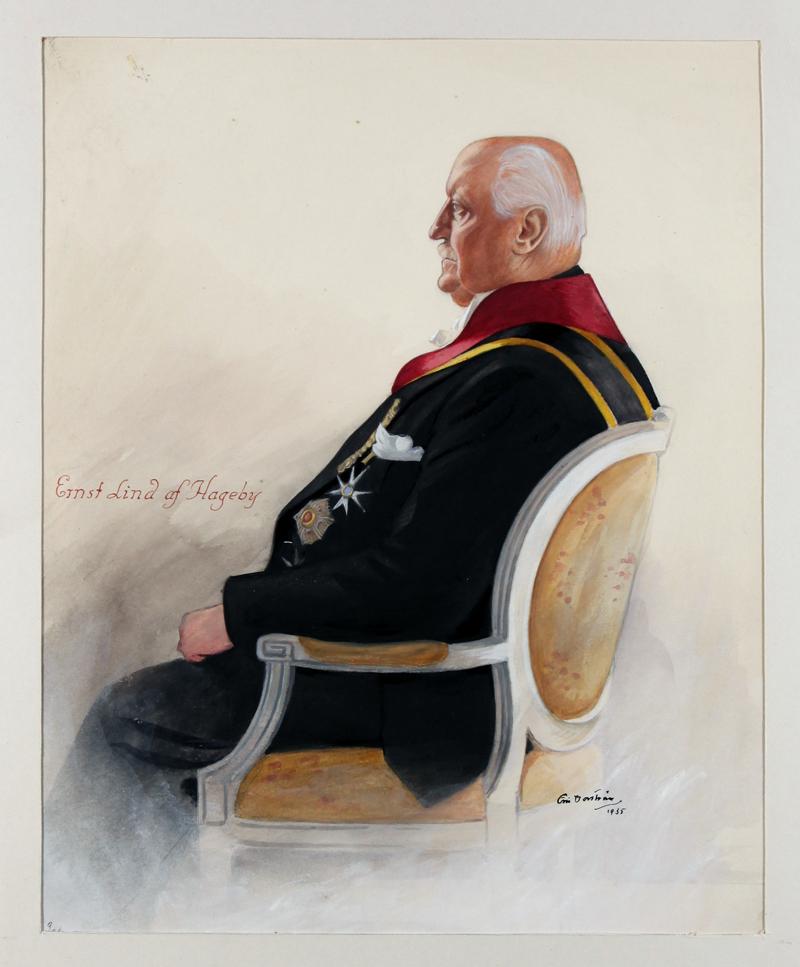 Eric Norströms porträtt från 1934 - Ernst Lind af Hageby