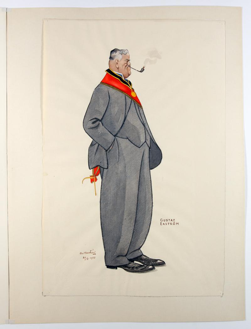 Eric Norströms porträtt från 1934 - Gustaf Ekström