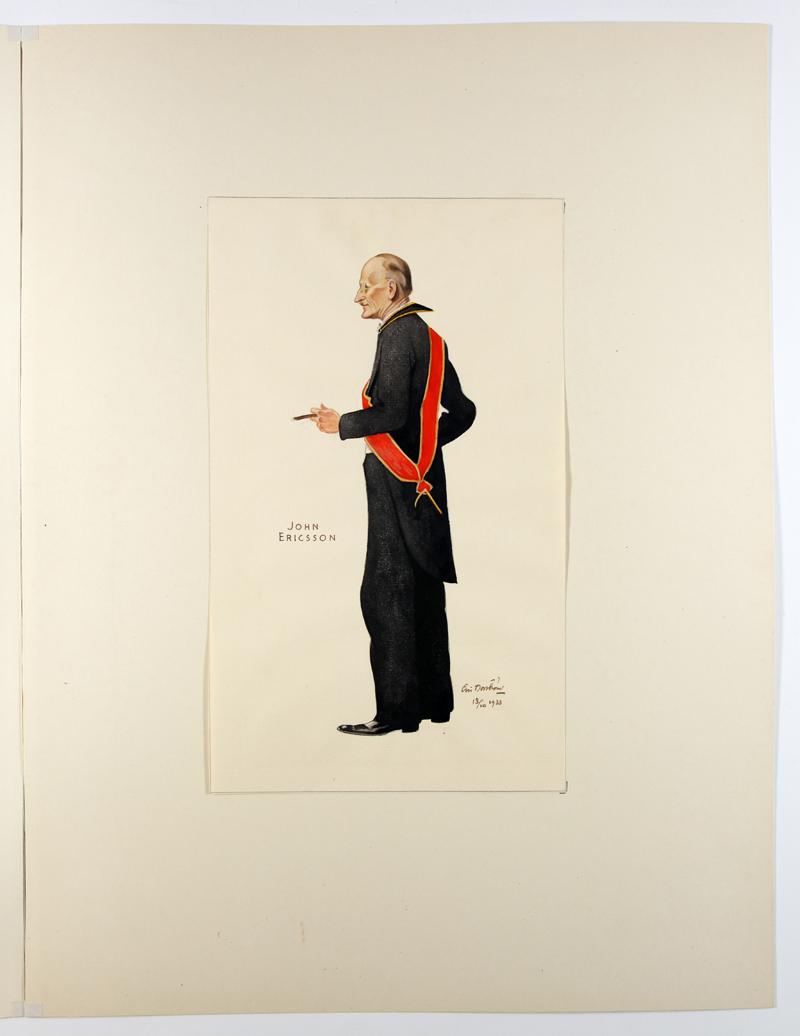 Eric Norströms porträtt från 1934 - John Ericsson