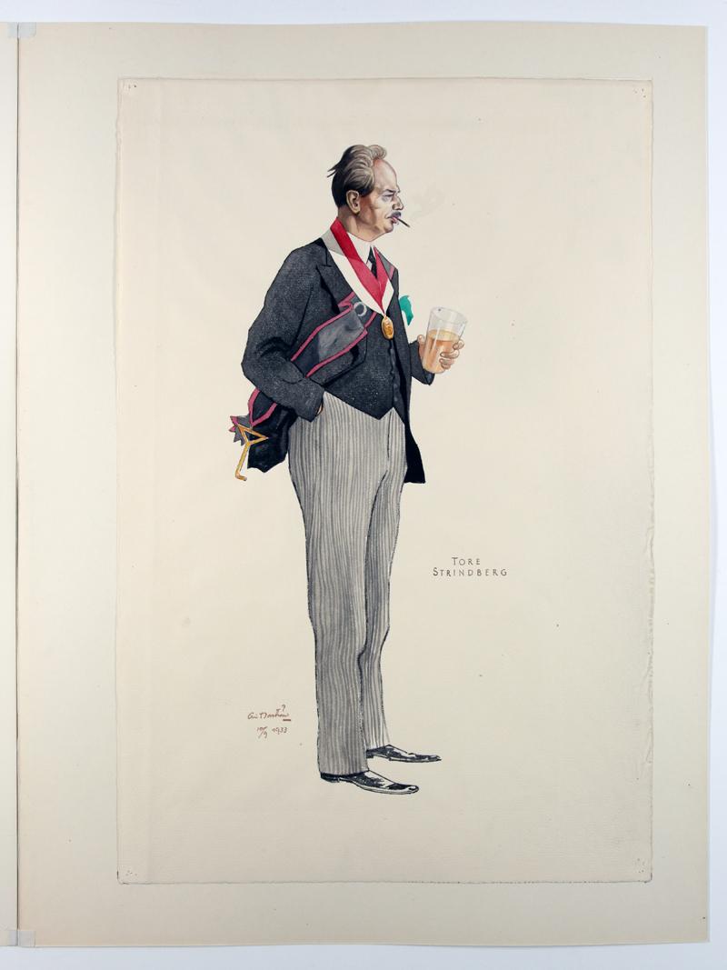 Eric Norströms porträtt från 1934 - Tore Strindberg